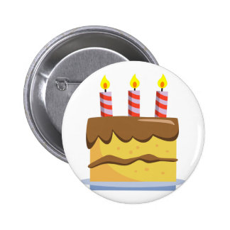 Yummy Food - Birthday Cake Buttons
