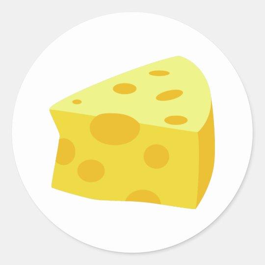 Yummy Food - Cheese Classic Round Sticker