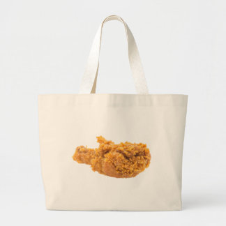 Yummy Fried Chicken Leg. Large Tote Bag
