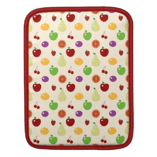 Yummy fruity fruits top chef foodie cherries apple iPad sleeve