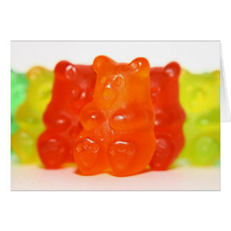 Yummy Gummy 3 Note Card