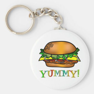 Yummy Hamburger Keychain