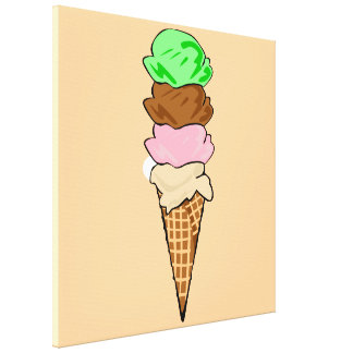 Yummy Ice Cream Gallery Wrapped Canvas