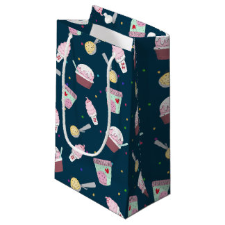 Yummy ice cream treat pattern large gift bag