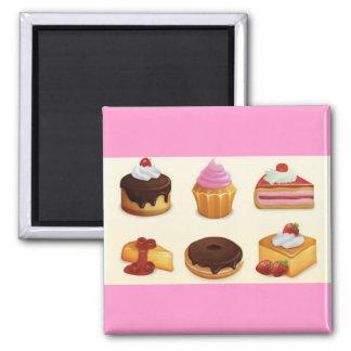 yummy icon set refrigerator magnet