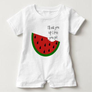 Yummy in my Tummy Watermelon Baby Romper