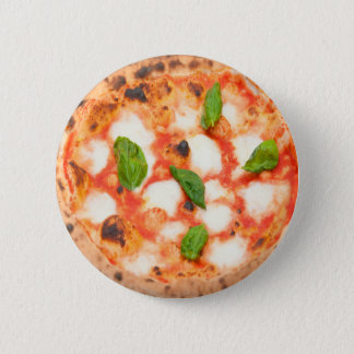 yummy italian margherita pizza 2 inch round button