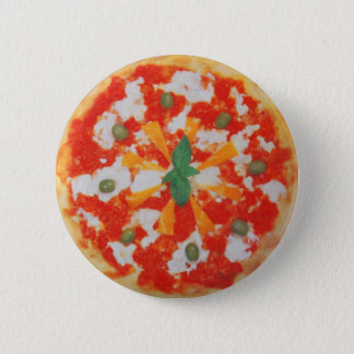 yummy italian pizza 2 inch round button