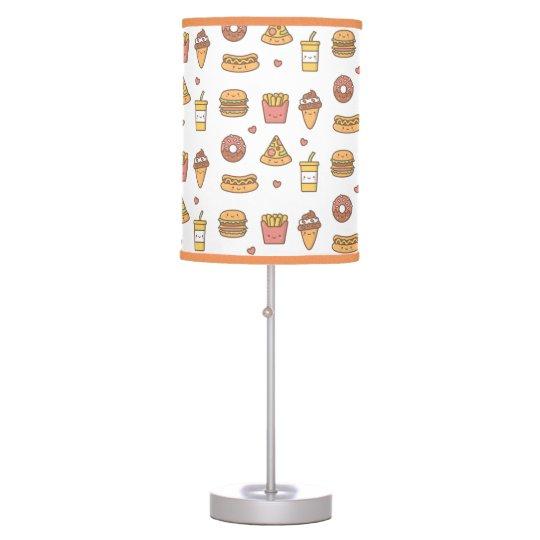 Yummy Kawaii Fast Food Doodles Girls Room Decor Table Lamp