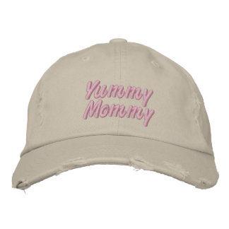 Yummy Mommy Embroidered Baseball Caps