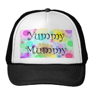 yummy mummy flowers cap trucker hat