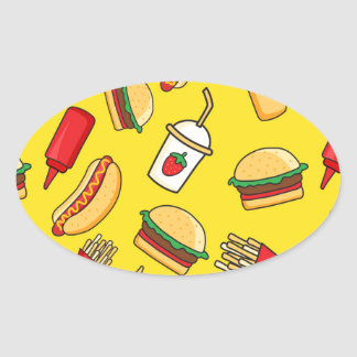 Yummy! Oval Sticker