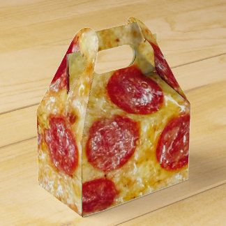Yummy Pepperoni Pizza 4Artie Party Favor Boxes