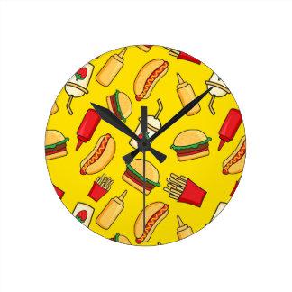Yummy! Round Clock