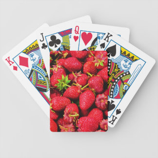 Yummy Strawberries Bicycle Playing Cards
