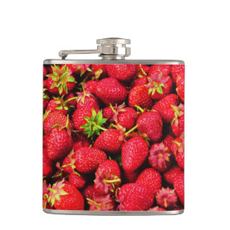 Yummy Strawberries Hip Flask