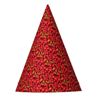 Yummy Strawberries Party Hat