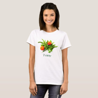 Yummy T-Shirt with Green Beans and Oranges