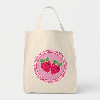Yummy Treats Strawberries Kawaii Tote Bag