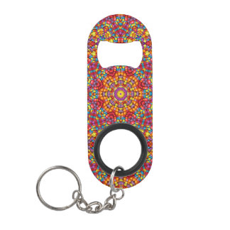 Yummy Yum Kaleidoscope  Bottle Openers, 3 styles Mini Bottle Opener