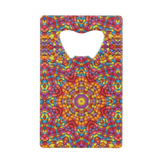 Yummy Yum  Kaleidoscope  Credit Card Openers Wallet Bottle Opener