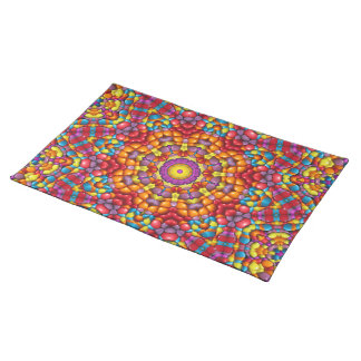 Yummy Yum Yum Colorful Cloth Placemats