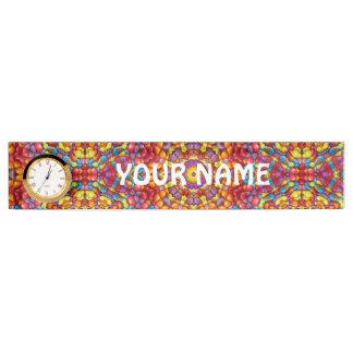 Yummy Yum Yum Desk Nameplate with Clock