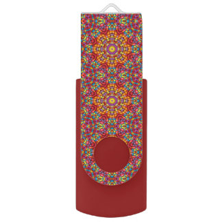 Yummy Yum Yum   Kaleidoscope   USB   Flash Drive Swivel USB 2.0 Flash Drive