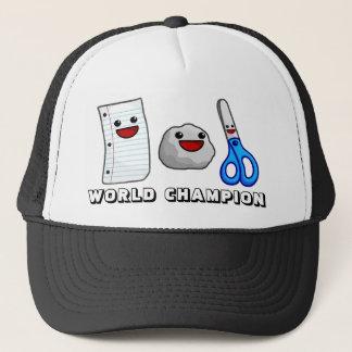 Yummy's Paper Rock Scissors World Champion Hat!!! Trucker Hat
