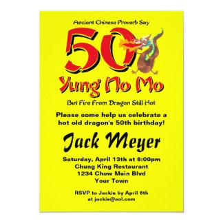Yung aucun cinquantième anniversaire de MOIS Carton D'invitation 12,7 Cm X 17,78 Cm