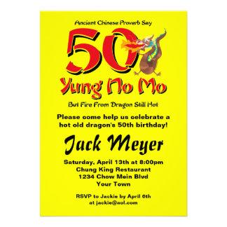 Yung aucun cinquantième anniversaire de MOIS Faire-parts