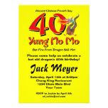 Yung aucun quarantième anniversaire de MOIS Invitations Personnalisables