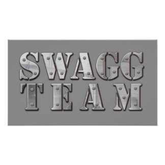 Yung Joc Swagg Team Logo Poster
