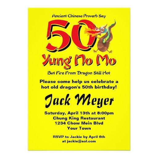Yung No Mo 50th Birthday Invitation