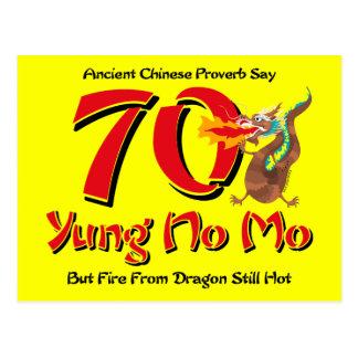 Yung No Mo 70th Birthday Postcard Invitation