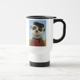 Yuri the meerkat travel mug