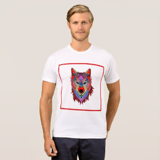 yuyass colourful wolf mandala t-shirt