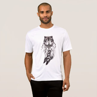 yuyass dream catcher wolf t-shirt