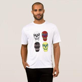 yuyass four colourful skulls T-Shirt
