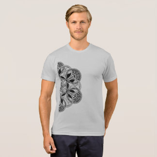yuyass mandala Black and white gray t-shirt