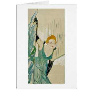 Yvette Guilbert By Henri De Toulouse-Lautrec Card