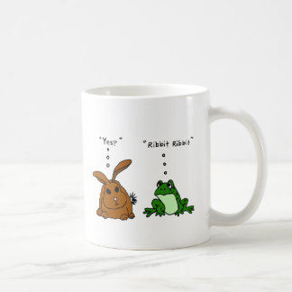 YY- Funny Rabbit and Frog Cartoon Coffee Mug