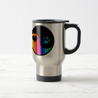 YYP_Dog_RainbowThickStripe Travel Mug