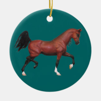 Z Bay Horse Pony Lover Equine Art Holiday Ornament