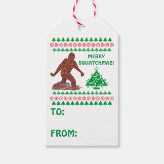 Z Bigfoot Walking Have A Very Merry Squatchmas Gift Tags