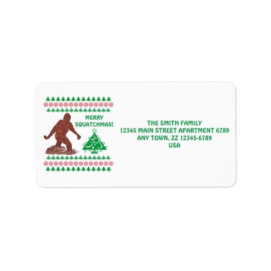 Z Bigfoot Walking Sasquatch Funny Christmas