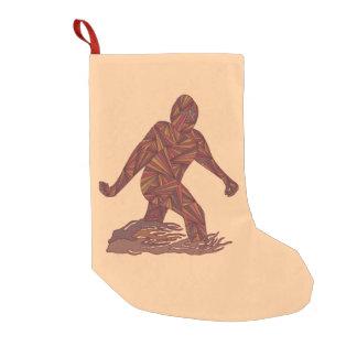 Z Bigfoot Walking Sasquatch Small Single Side Small Christmas Stocking