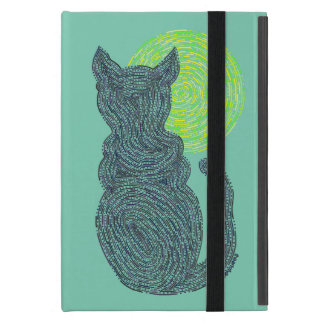 Z Black Cat And The Moon Cat Lover Feline Kitten Cover For iPad Mini