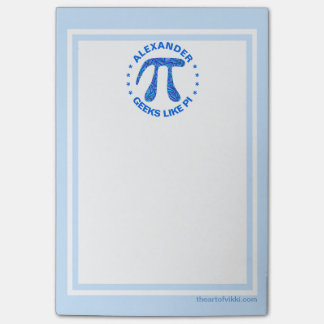 Z Blue Pi Symbol Math Geek Likes Pi Light Blue Post-it Notes