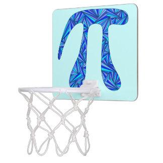 Z Blue Pi Symbol Math Geek Nerd Fun Office Games Mini Basketball Hoop